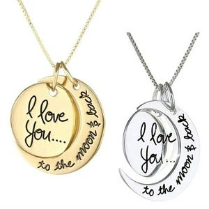 Jewelry - I Love You To The Moon and Back Necklace  Gold